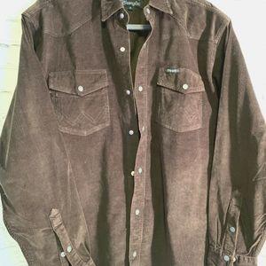 Men's Vintage Corduroy Button Down Shirt